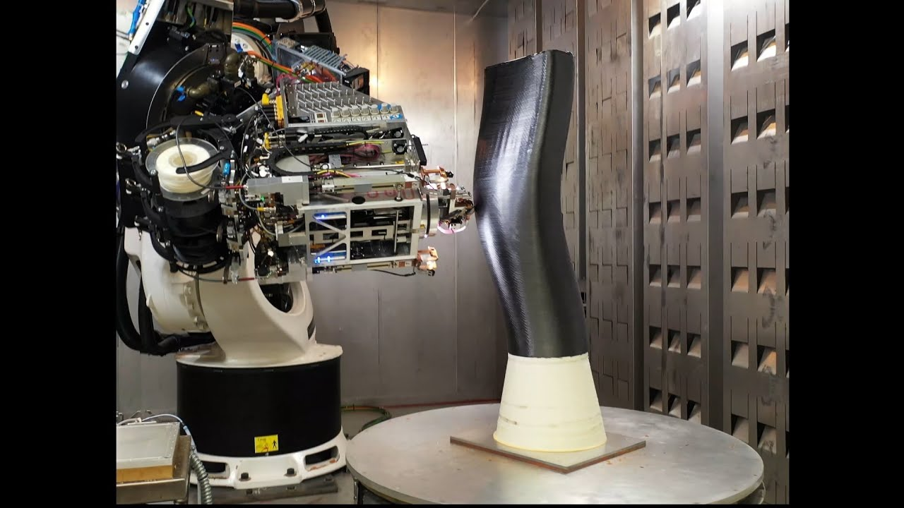 Combining AFP with 3D printing for flexible parts production