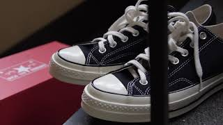 Converse Chuck Taylor 70's Black Low |  UNBOXING/ONFEET |