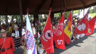 Indian Village Pow Wow Flag Song - Calgary Stampede