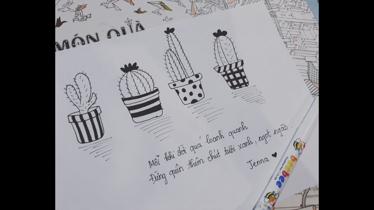 Doodle – Art/ Linh Tinh/ Ngẫu Hứng Vẽ Xương Rồng