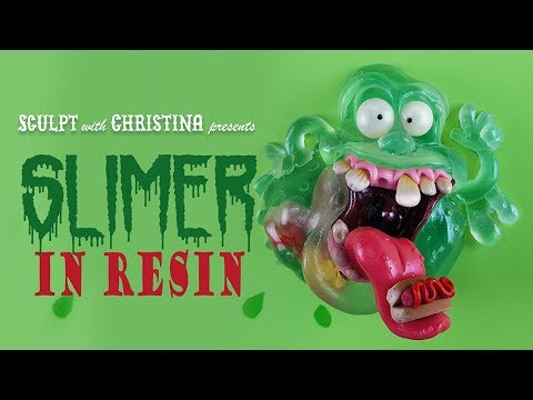 Slimer done in Resin and Polymer clay