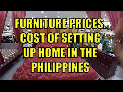 Furniture Prices. Cost Of Setting Up Home In The Philippines