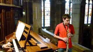 BACH.J.S  sonate sol min BWV1020 allegro Saxophone David DECOUCHANT  Pierre ASTOR  orgue Firminy