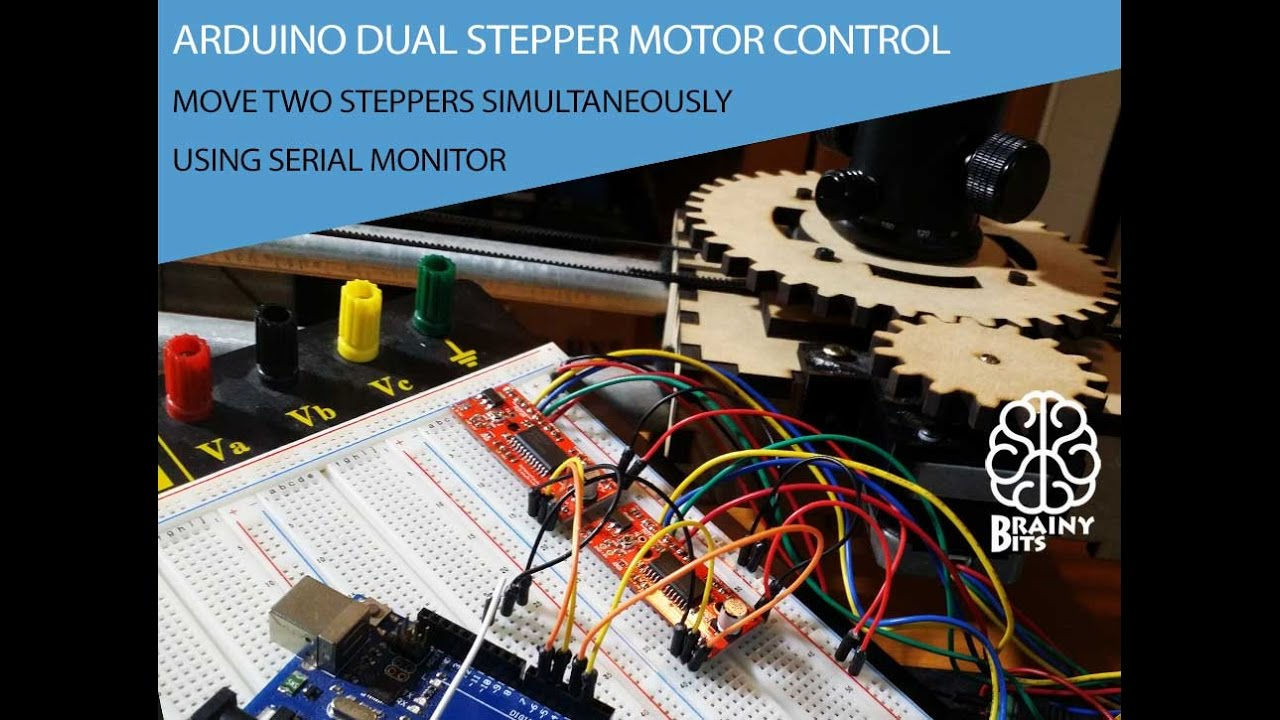 Lb1948m Bassed Forward Reverse Motor Control Driver Circuit With 2 Stepper Using An Arduino Easy And Serial Monitor Tutorial Youtube