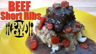 Beef Short Ribs with Mashed Potatoes and Gravy - PoorMansGourmet