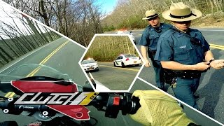 Cop Pulls Over Motorcycle, DUCATI Joy Ride Ends [HD]