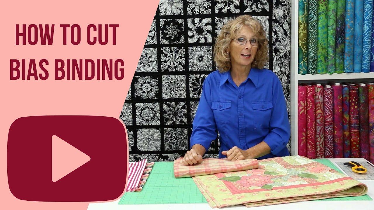 How to Cut Bias Binding - YouTube : cutting bias strips for quilt binding - Adamdwight.com