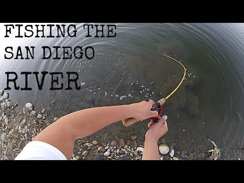 Fishing The SAN DIEGO RIVER W/ MINIATURE UNDERSPIN!!!