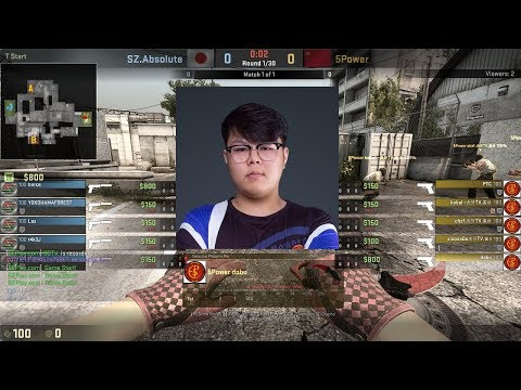dobu 23-12 POV / SZ Absolute vs 5POWER / Cache / Douyu CS:GO Asia Invitational #2