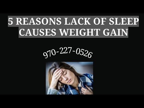 5 REASONS LACK OF SLEEP CAUSES WEIGHT GAIN