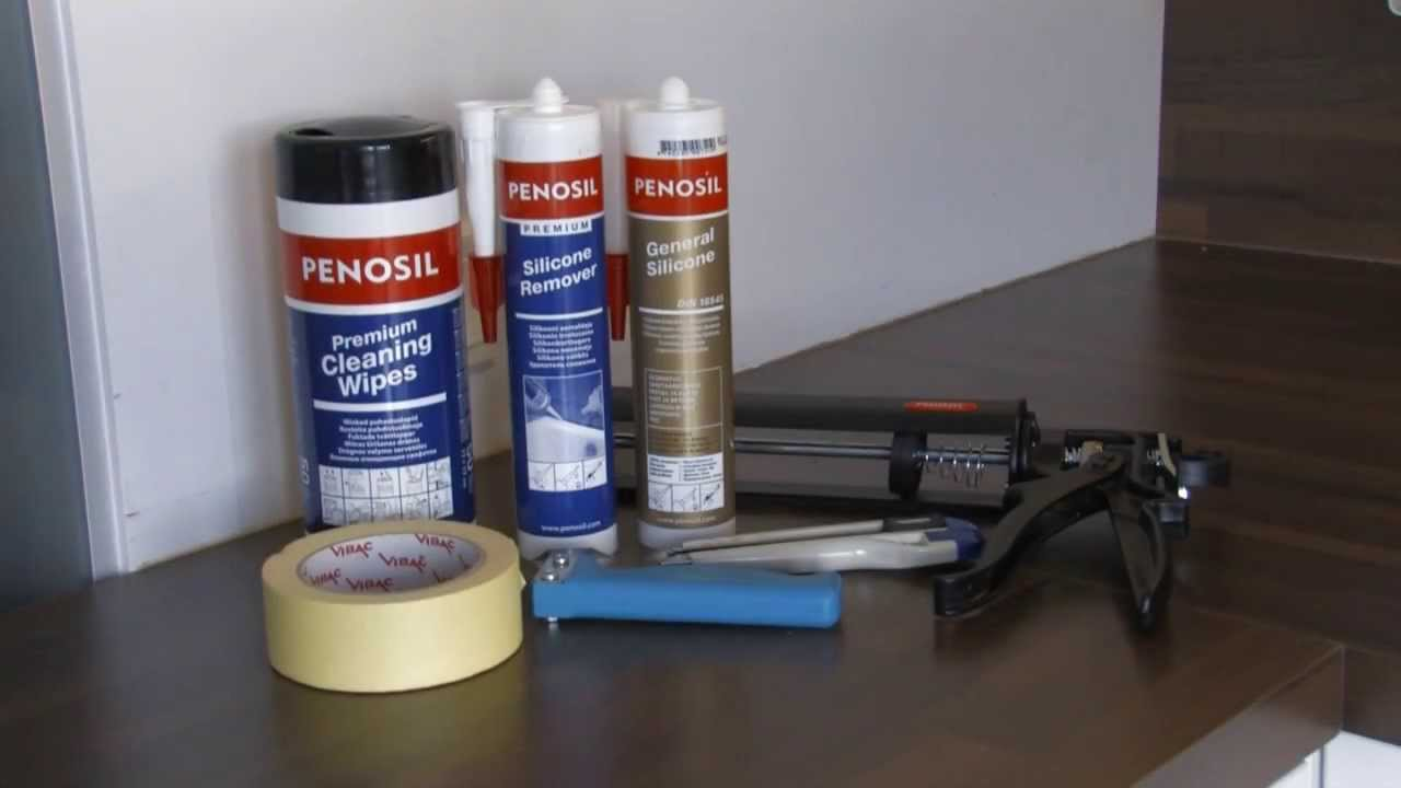 how to remove old caulk and apply silicone to kitchen joints youtube. Black Bedroom Furniture Sets. Home Design Ideas