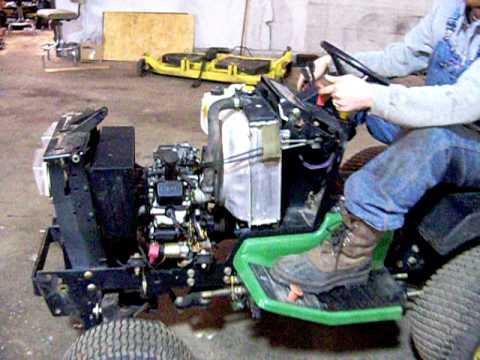 20 hp Kawasaki motor, Removed from John Deere 425  YouTube