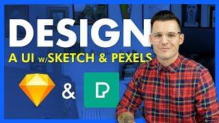 Design a UI with the Pexels Sketch Plugin
