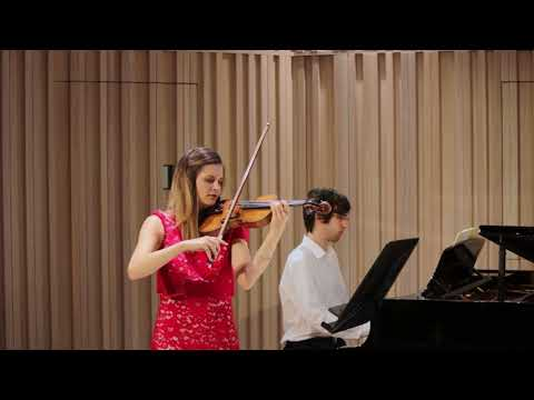 Courtenay Cleary and Mihály Berecz Perform Poulenc Sonata for Violin and Piano (second movement)