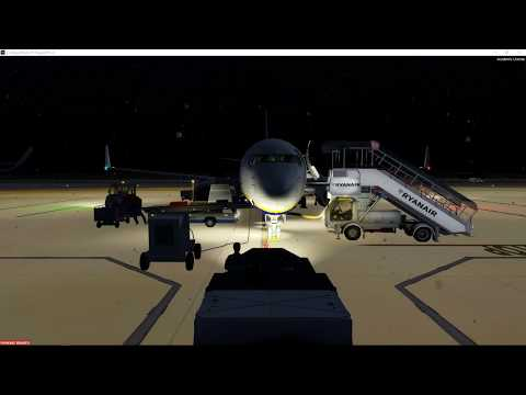P3D v4.2 EGSS/EGPH  Night flight Crap weather!