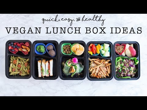VEGAN Lunch Ideas // Healthy & Easy Kids Lunches (bento box)