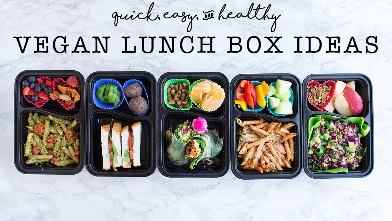 vegan lunch ideas healthy easy kids lunches bento box youtube. Black Bedroom Furniture Sets. Home Design Ideas