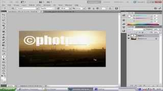 photoshop CS5 watermark tutorial