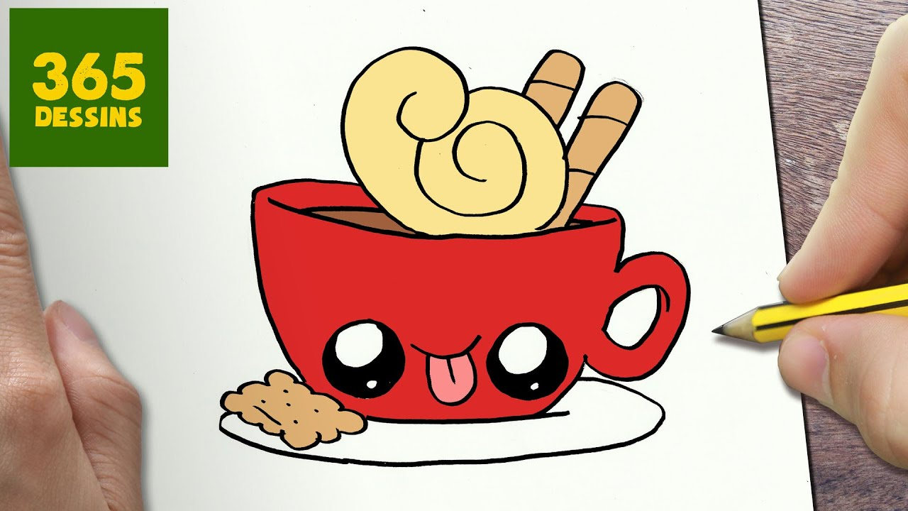 Comment dessiner tasse de caf kawaii tape par tape dessins kawaii facile youtube - Tasse de cafe dessin ...