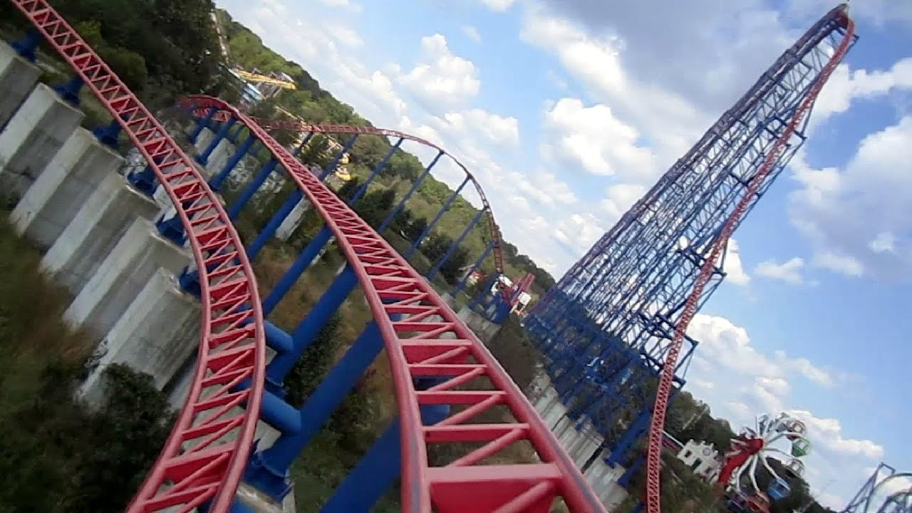 Superman - Ride Of Steel front seat on-ride HD POV Six ...