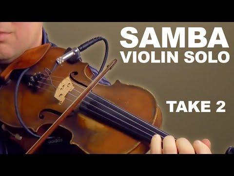 How to Play Bossa & Samba on Violin- Solo Improvisation: Tristeza (take 2)