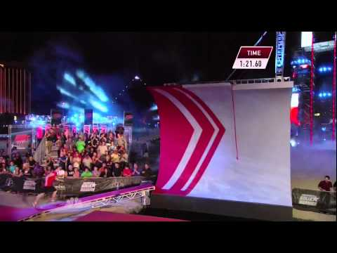 Joe Moravsky at American Ninja Warrior 2013 Las Vegas Finals Stage 1
