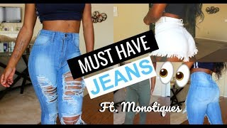 SLIM THICK QUICK! Denim Try On Haul ft. Monotiques