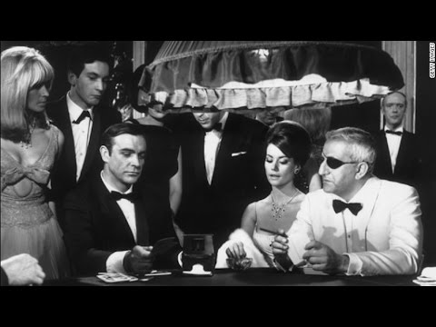Sean Connery as James Bond in B-roll behind-the-scenes footage of 'The Casino Scene'
