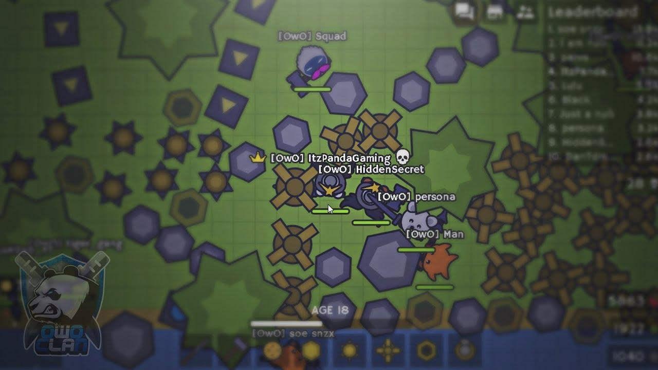 Dominamos el Servidor Completo en Moomoo io! con el Clan OwO // Gameplay [  ItzPandaGaming ]