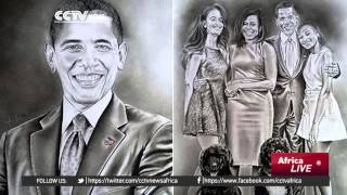 Fortunes of Kenyan artist change after drawing President Kenyatta