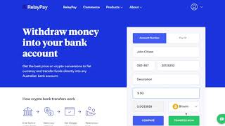 Cash out your Bitcoin, Ethereum or other digital currencies to your bank account with RelayPay