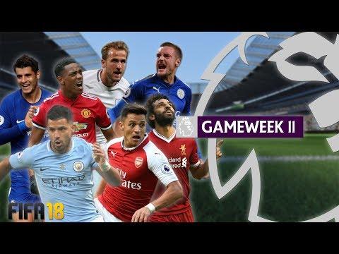 Man City vs Arsenal | FIFA 18 Premier League - Gameweek 11 Highlights