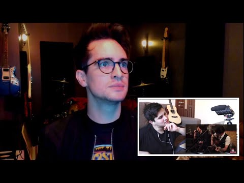 BRENDON URIE REACTING TO VOCAL COACH TRISTAN PAREDES REACTING TO HIM