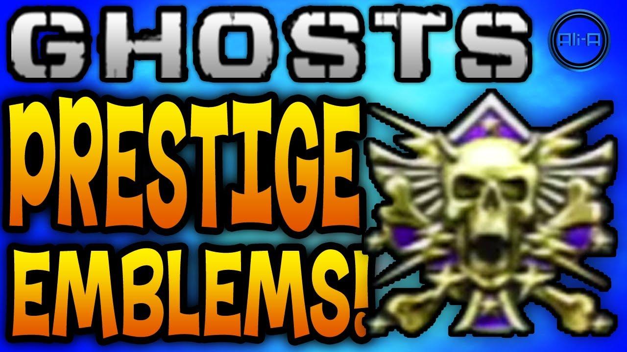 call of duty ghosts prestige emblems 1 10th all