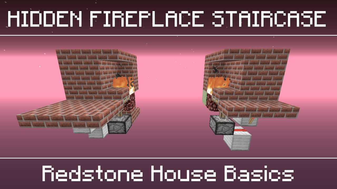 Minecraft: Hidden Fireplace Staircase [Compact/Seamless ...