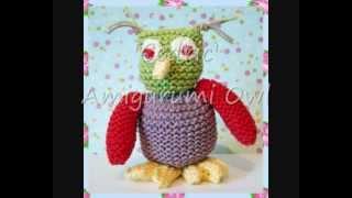 Cedric Amigurumi Owl Soft Toy Dk Yarn Knitting Pattern
