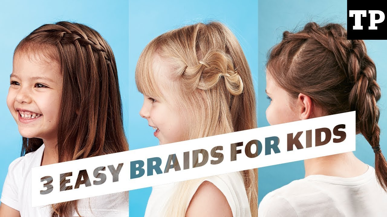 How To 3 Super Easy Braid Ideas Hairstyles For Kids Youtube