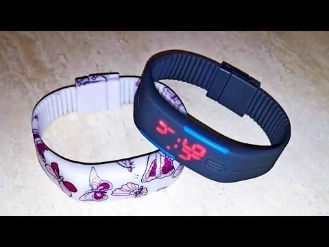 Спортивные цифровые светодиодные (LED) часы-браслет. Aliexpress