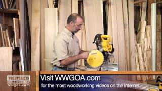 Woodworking Tips: Selecting A Blade For A Sliding Miter Saw