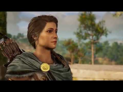 Assassin's Creed Odyssey - Ashes to Ashes: Reach Forest Altar: Warning Cutscene Ambush Fight (2018)
