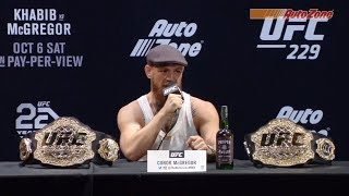 UFC 229 Pre-fight Press Conference: Khabib vs McGregor