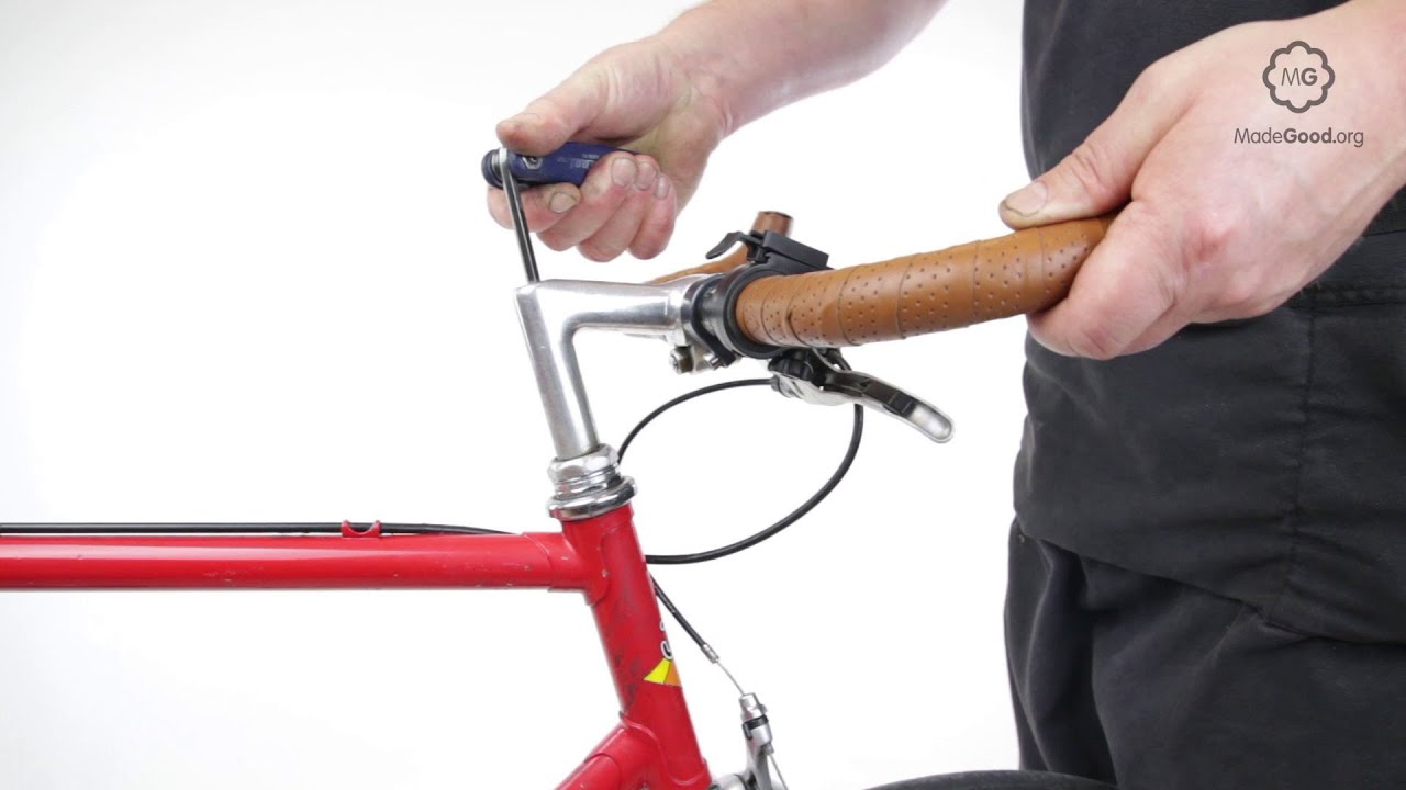 cfc3bde056a Adjust A Bike s Handlebars Attached To A Threaded Steerer - YouTube