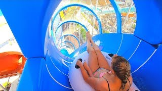 Water Slides at Yalı Castle Aquapark in Izmir, Türkiye