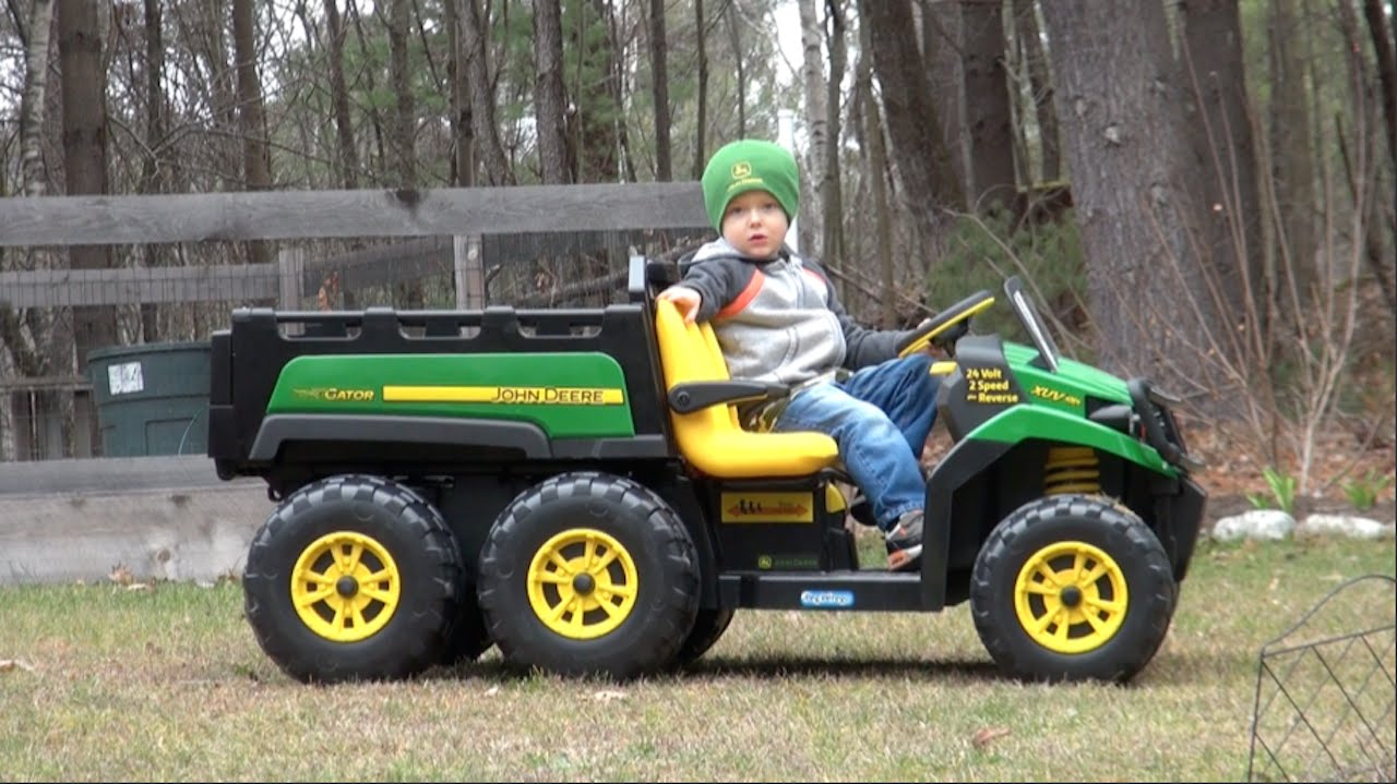 Peg Perego Ride On Toys >> Peg Perego John Deere Gator 6x4 Ride On Vehicle For Kids Youtube