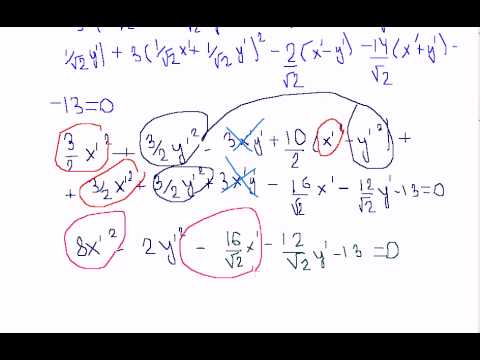 канонический вид уравнения линии второго порядка