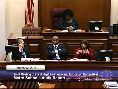 Charter Schools, MNPS Performance Audit Presentation — March 12, 2015