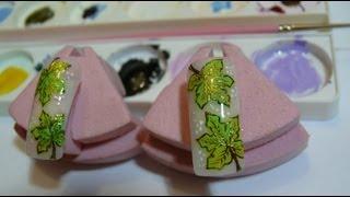 Дизайн ногтей: Кленовые листочки: Литье на ногтях