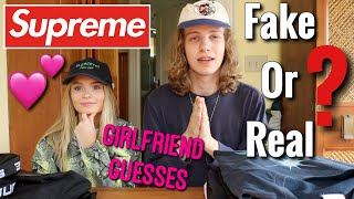 Girlfriend Reacts to Fake vs. Real Supreme!