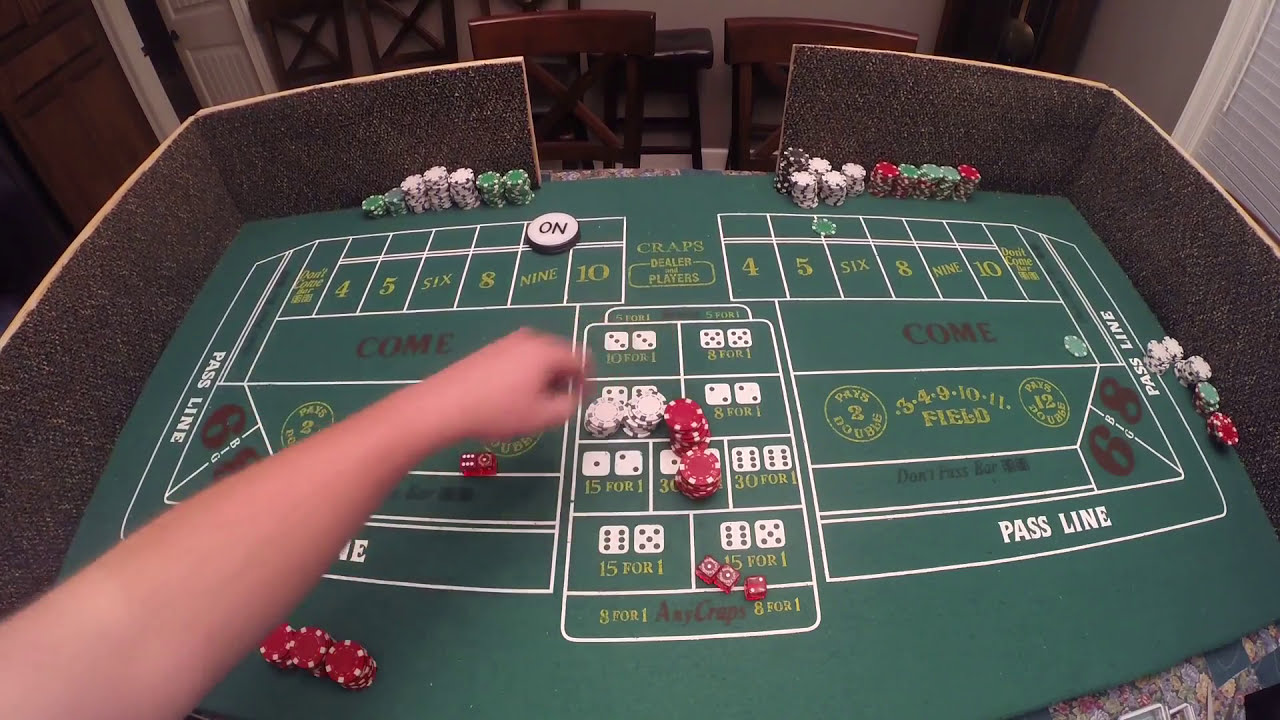 Craps table for home use