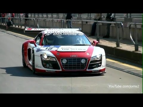 Jacky Ickx driving Audi R8 GT3! Lovely Sound! - 1080p HD